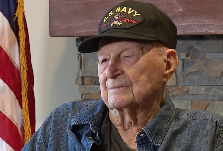 Purple Heart recipient recalls kamikaze attacks during WWII