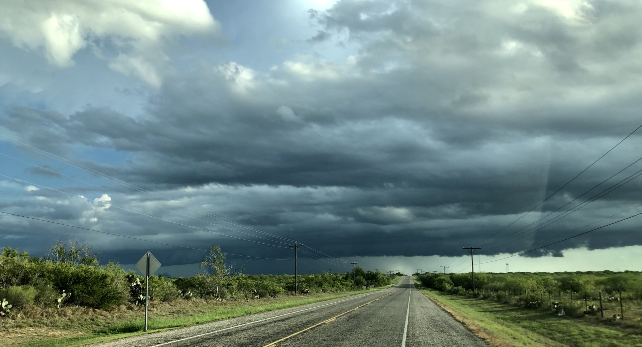 Murky conditions ending with strong cold front arrival