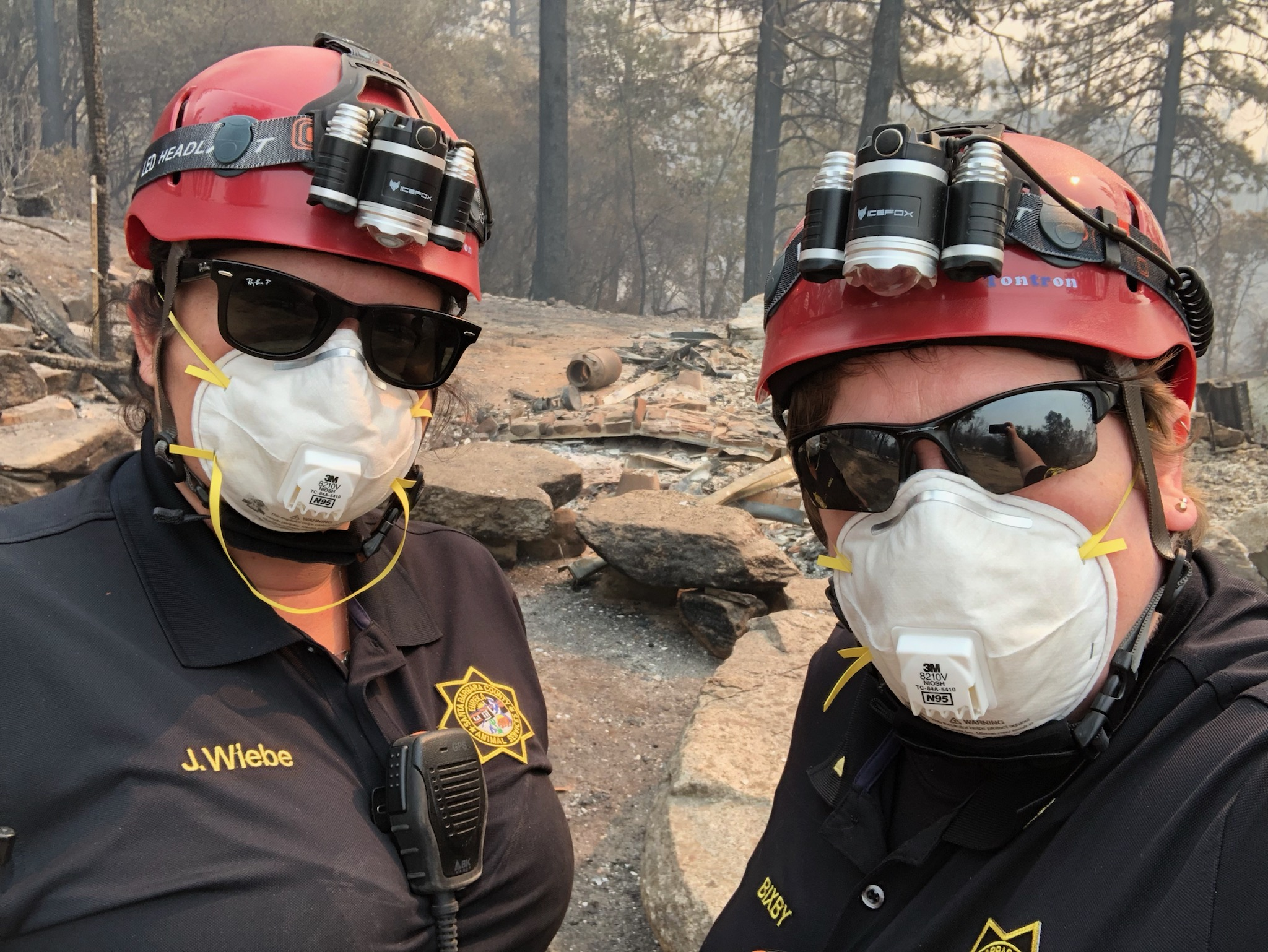 First responders from Santa Barbara Co. Animal Services rescue animals in North Complex Fire